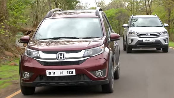 Honda BR-V v Hyundai Creta - Petrol-Automatic Comparative Review - Video