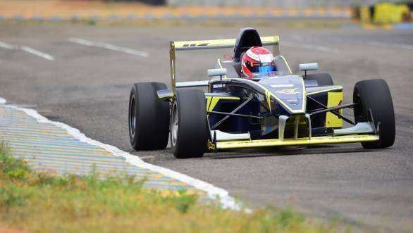 Krishnaraaj Mahadik managed to win Race 2 despite being involved in an incident which called for a restart.