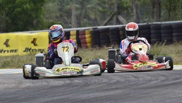 On track battles at the second round of the National Karting Championship