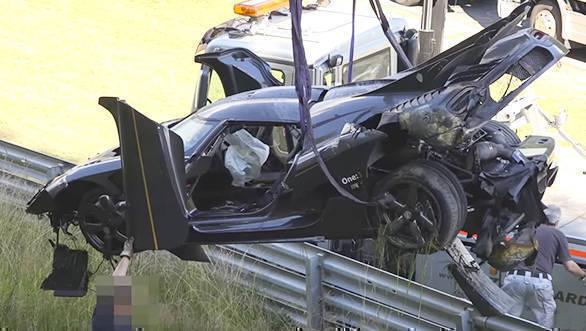 Koenigsegg One 1 crash nurburgring (1)