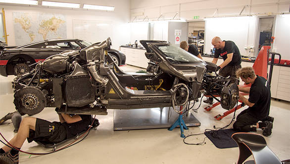 The Koenigsegg team inspected the car and found that its crash structure worked perfectly