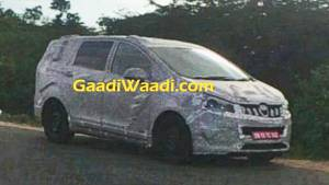 Mahindra TUV500 MPV spotted testing in India