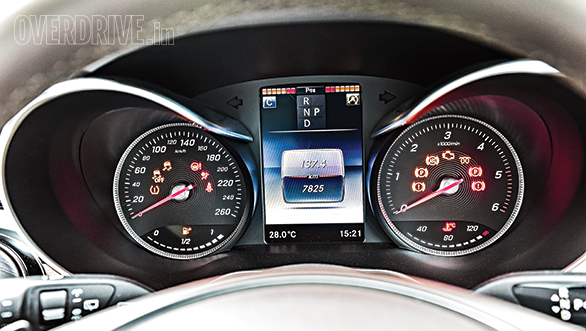 Instrument cluster features high-resolution screen.