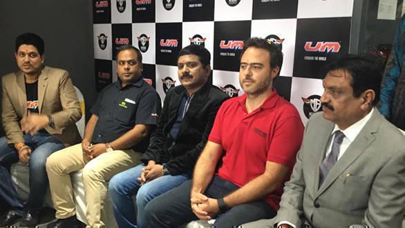 UM Motorcycles Mumbai showroom two
