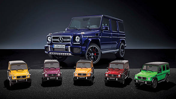 modellautos mercedes-amg g colors amg solarbeam galacticbeam sunsetbeam tomatored aliengreen resin limitiert auf st model cars left to right limited edition of