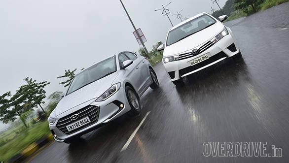 Hyundai Elantra SX O MT diesel vs Toyota Corolla Altis D-4D