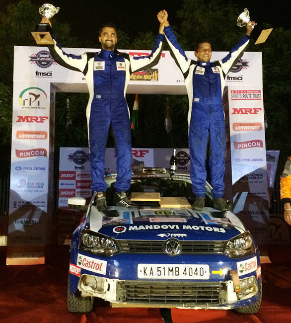 Rally de North Winner - Arjun Rao and Satish Rajgopal