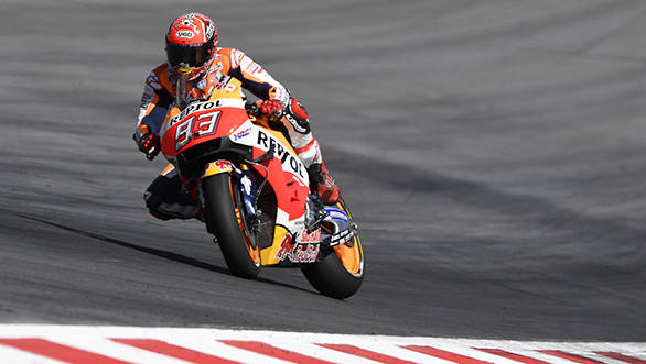 Round 10: After suffering a bruised shoulder in FP3,  Marquez managed to start fifth from the gird at Austria. Although he managed to get to third with a good start, he was back at fifth by the end of Lap 1, which he maintained for the rest of the race