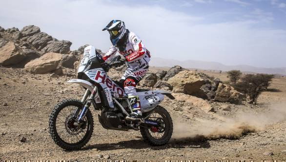 CS Santosh is ranked 26th overall in the 450cc class after Stage 2