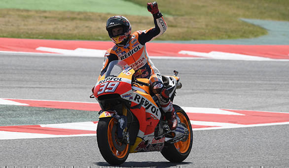 The second place finish at Catalunya gave Marquez the points he needed to regain the championship lead. However, this was also the weeked in which Luis Salom died. After the race, Marquez changed the number on his bike to 39 to pay his respect