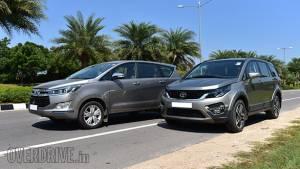 Spec comparo: Tata Hexa vs Toyota Innova Crysta