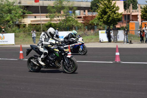 Daredevils locked in a fierce battle for supremacy during the JK Tyre Vroom 2016, held at the Jakkur Aerodrome, Bengaluru on October 16, 2016
