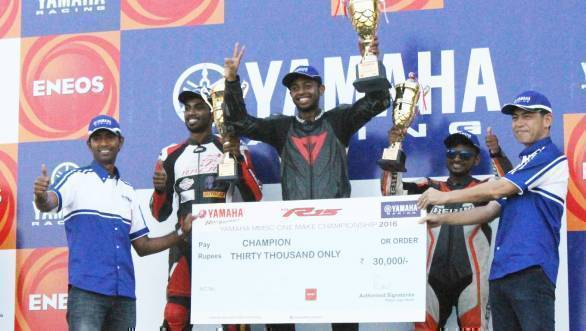 Antony Peter was crowned 2016 MMSC Yamaha One Make Champion