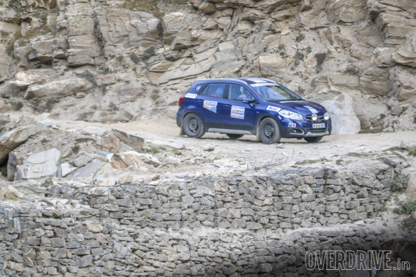 Our Maruti Suzuki S-Cross made it through the extremely rough terrain en route to Kaza without any problems