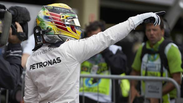 Lewis Hamilton beat Nico Rosberg to pole position at the 2016 Brazilian GP