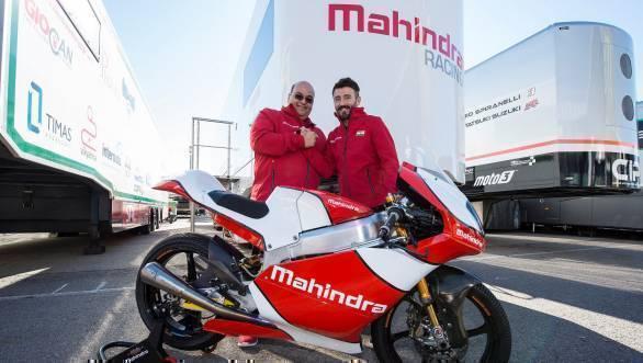 Mahindra Racing's CEO Mufaddal Choonia with Max Biaggi