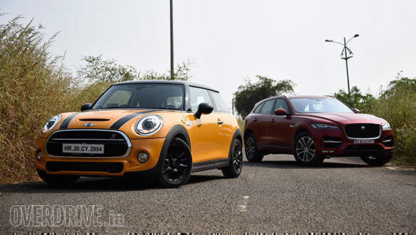 According to the driving mode selected, the Cooper S' screen will change the colour of the outer infotainment ring. No prizes for guessing which mode was the most preferred. The UK-bred Mini meets the UK-born Jaguar F-Pace, and apart from their origins, both have sophistication, fun and everyday usability in common. But you got to admit it. The Mini sounds much much better