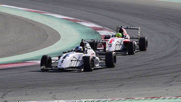 Newey leading Schumacher