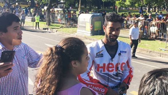CS Santosh greets his fans in Buenos Aires