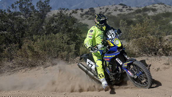 Aravind KP's crash in Stage 3 left him with a shoulder injury that forced him to drop out of the rally