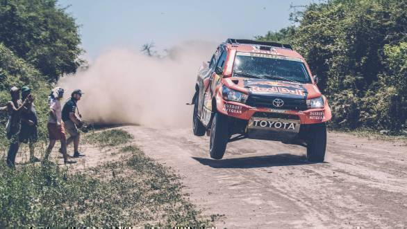 Nasser Al Attiyah (QAT) of Toyota Gazoo Racing SA races during stage 2 of Rally Dakar 2017 from Resistencia to San Miguel de Tucuman, Argentina on January 3, 2017