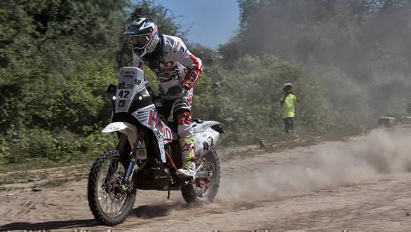 Hero MotoSports Team Rally - CS Santosh - Dakar 2017 - Stage 2