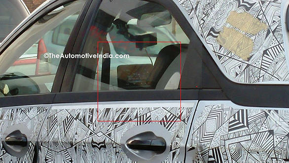 Tata-Nexon-top-end-variant-with-touchscreen-system-caught-on-test