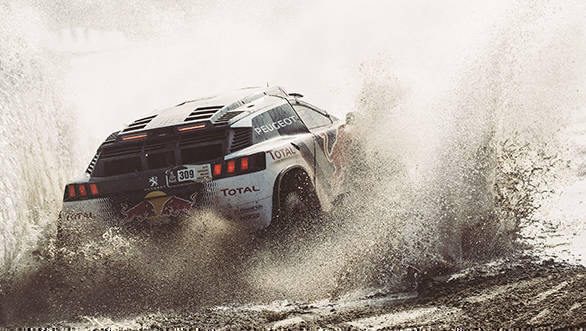 Sebastien Loeb (FRA) of Team Peugeot TOTALraces during stage 8 of Rally Dakar 2017 from Uyuni, Bolivia to Salta, Argentina on January 10, 2017. // Flavien Duhamel/Red Bull Content Pool // P-20170110-00839 // Usage for editorial use only // Please go to www.redbullcontentpool.com for further information. //