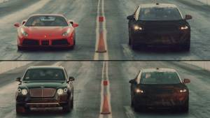 Video worth watching: Faraday Future FF prototype drag races with Bentayga, Ferrari 488 GTB and Tesla Model X