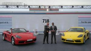 2017 Porsche 718 Boxster and Cayman launched in India