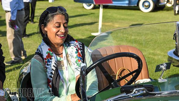 49- Padma Lal in her 1929 Triumph Super 7