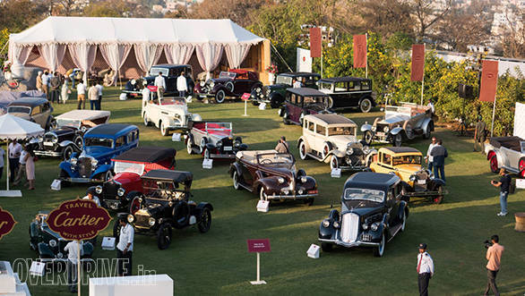 8- A wonderful collection of cars was on display at the Cartier Concours D'Elegance 2017