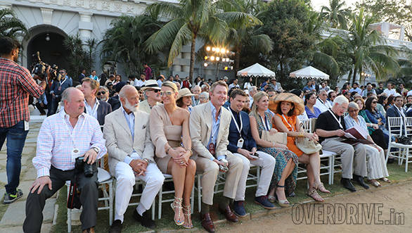 9-Guests and judges enjoying the awards ceremony at Cartier Concours D'Elegancy 2017 at Taj Falaknuma Hyderabad