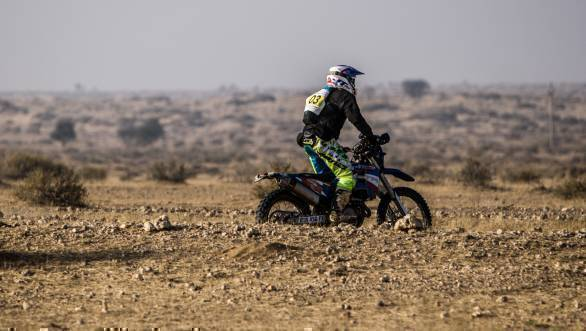 R Nataraj and TVS Racing have a fairly rigorous training schedule that helps them do well at events like the Desert Storm