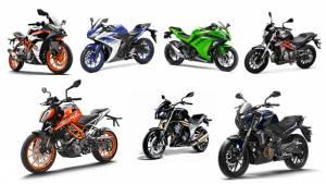 Spec comparison: 2017 KTM 390 Duke vs KTM RC 390 vs Benelli TNT 300 vs Kawasaki Ninja 300 vs Bajaj Dominar 400 vs Mahindra Mojo vs Yamaha YZF-R3