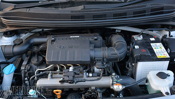 The new 1.2-litre U2 3-pot diesel engine makes 75PS/190Nm