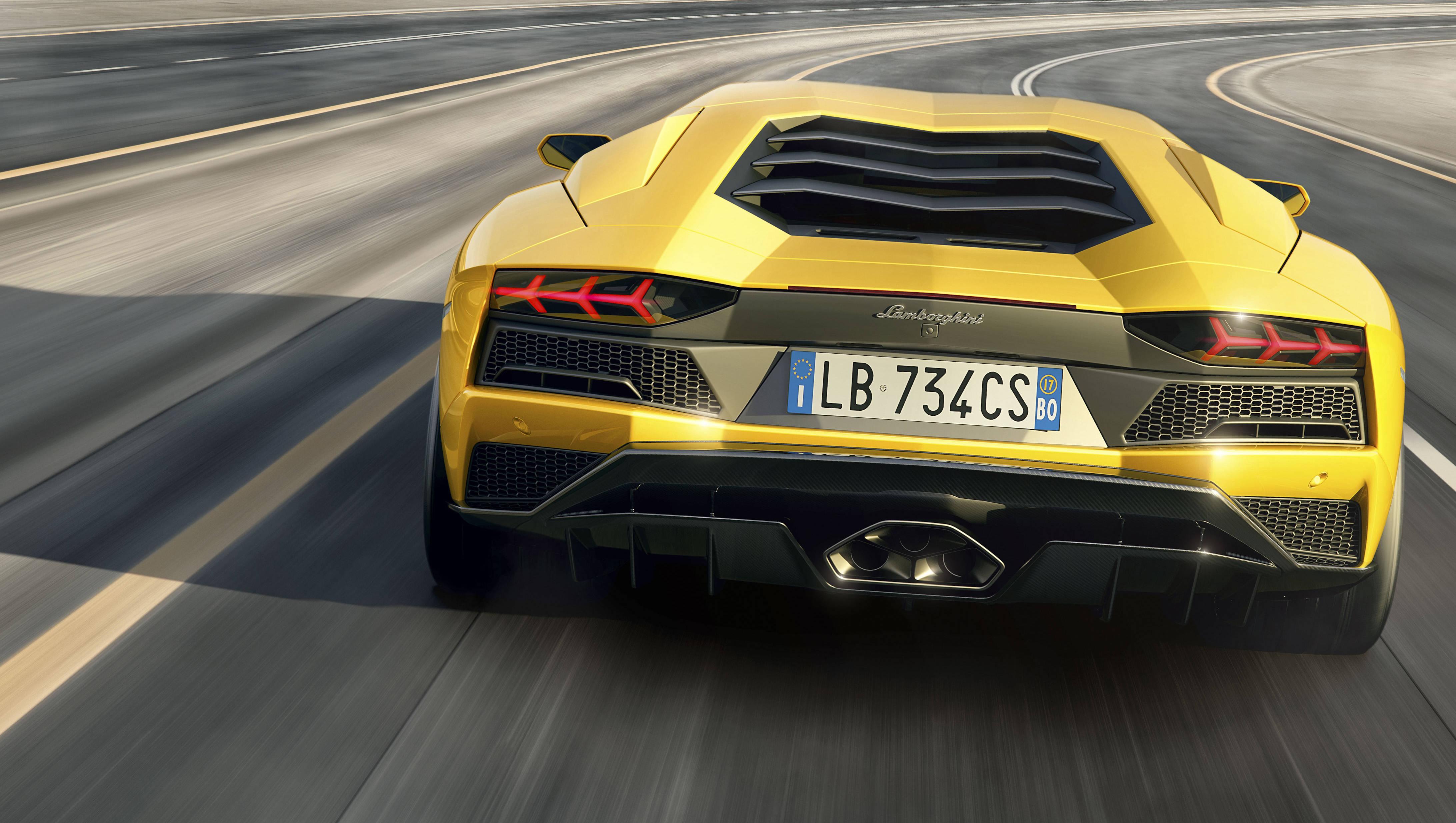 Aventador S rear