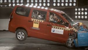 Global NCAP crash test: Chevrolet Enjoy scores zero stars, Ford Figo Aspire scores three