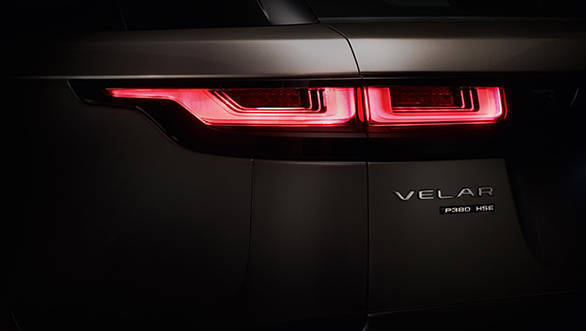 The sleek taillights look like a stretched out version of those on the Range Rove Evoque.