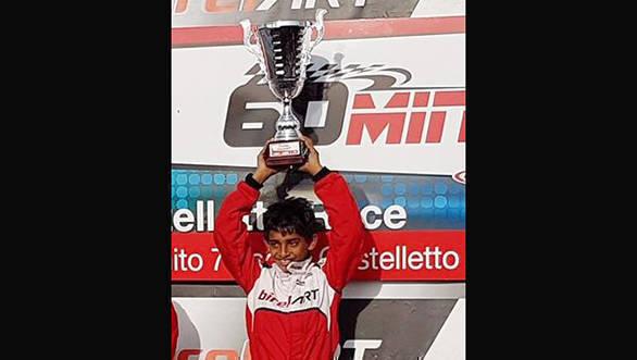Ruhaan Alva with trophy