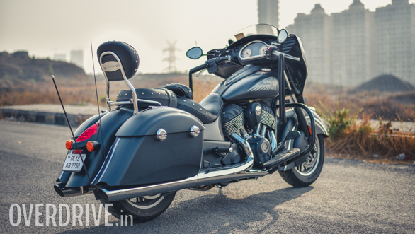 2017 Indian Chieftain Dark Horse Rear 3/4 Close-up