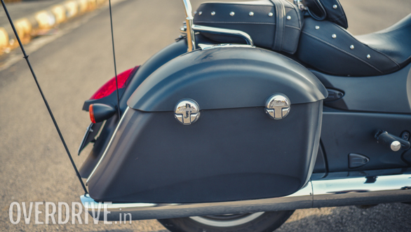 2017 Indian Chieftain Dark Horse hard bags detail