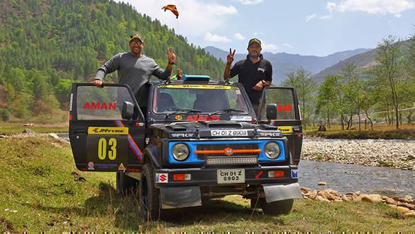 2017 JK TYRE Arunachal Festival of Speed winner Amanpreet Ahluwalia along with his navigator