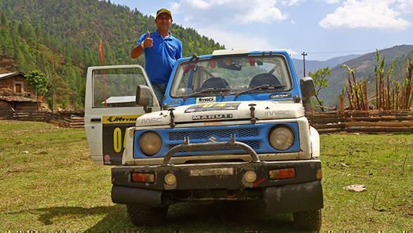 2017 JK TYRE Arunachal Festival of Speed's 2nd runners up Sandeep Sharma
