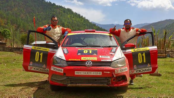 2017 JK TYRE Arunachal Festival of Speed's runners up Bopaiah K M & his navigator Gagan Karumbaiah