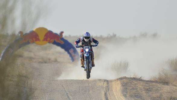 Abdul Wahid Tanveer's third-place finish in the Moto class of the 2017 India Baja has won him the Dakar Challenge prize