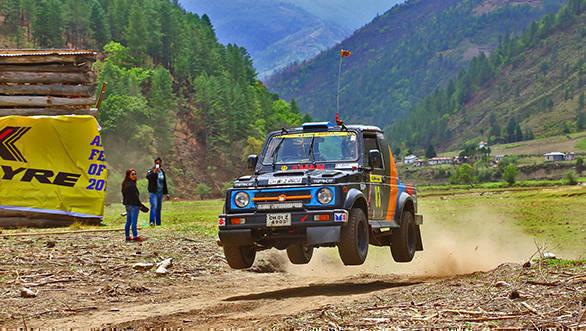 Amanpreet Ahluwalia won the 4th JK TYRE Arunachal Festival of Speed in Dirang today