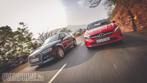 Audi A3 Petrol vs Mercedes CLA 200 (139)