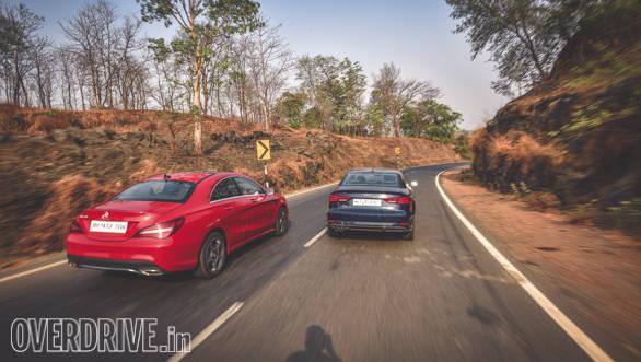 Audi A3 Petrol vs Mercedes CLA 200 (156)