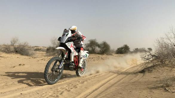 Hero MotoSport Team Rally's Joaquim Rodrigues leads the Moto category at the 2017 India Baja